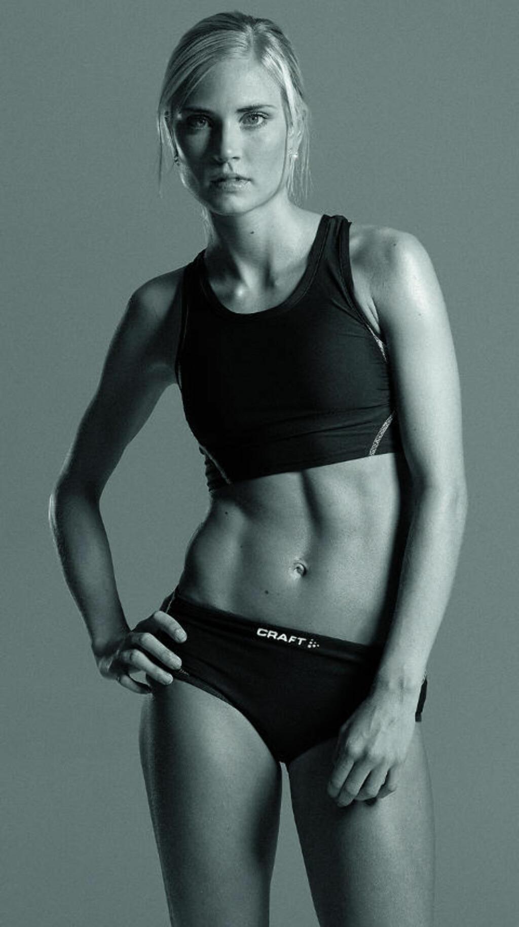 SLANKEPRESS:  Friidrettsutøver Helene Hoven (20) får ofte beskjed om at hun må gå ned to kilo under sessongen. Foto: Rolf Ørjan Høgseth / Det Nye