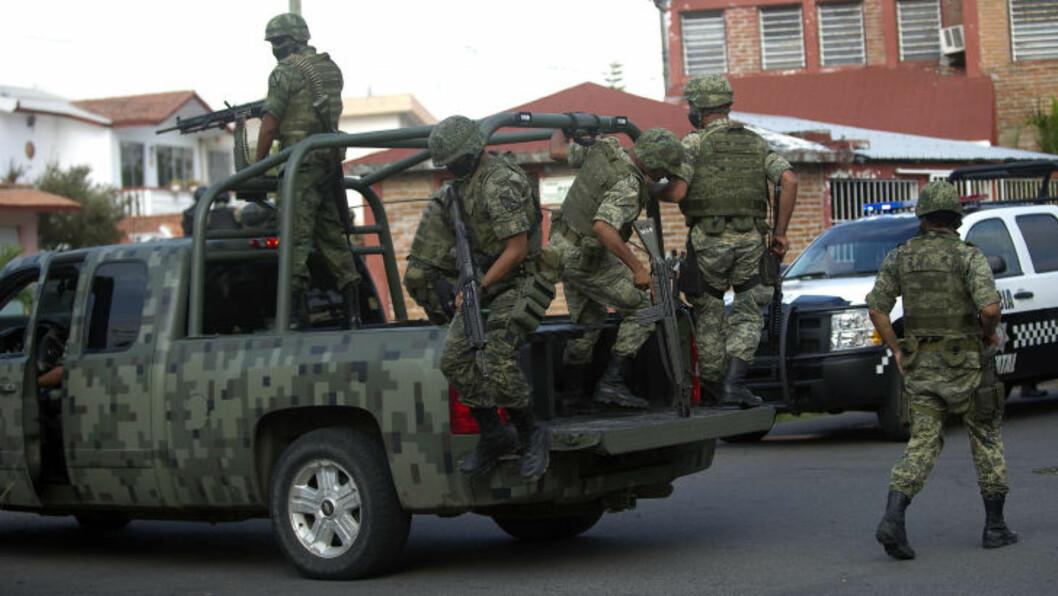 <strong>HÆREN SATT INN:</strong> Myndighetene har satt inn hæren i deler av Veracruz, etter flere alvorlige episoder. Bildet er tatt 11. oktober. Foto: AFP/Yuri CORTEZ/Scanpix