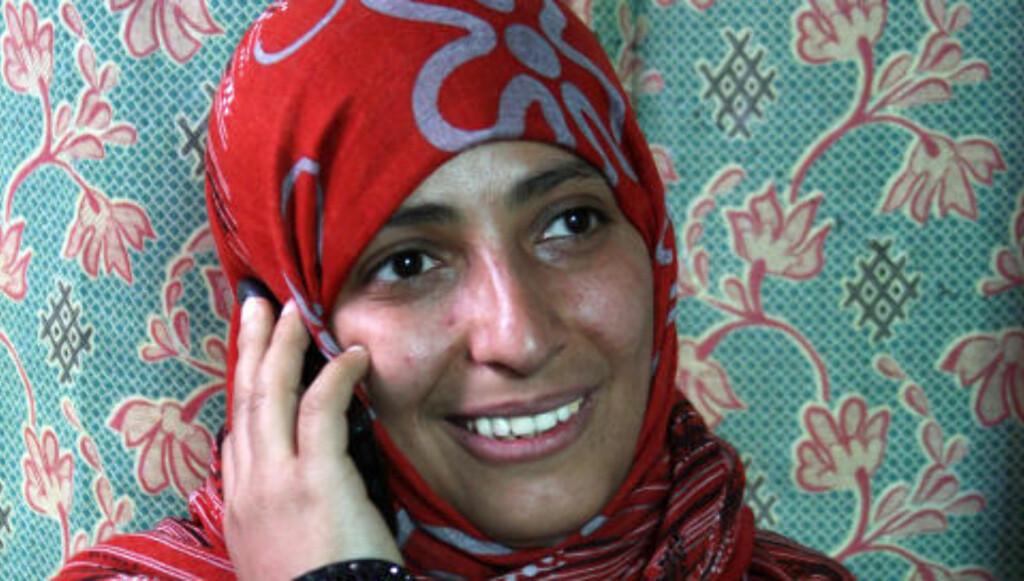 Prisvinner: Tawakel Karman er politiker, journalist og meneskerettighetsforkjemper i Jemen. Foto: Scanpix