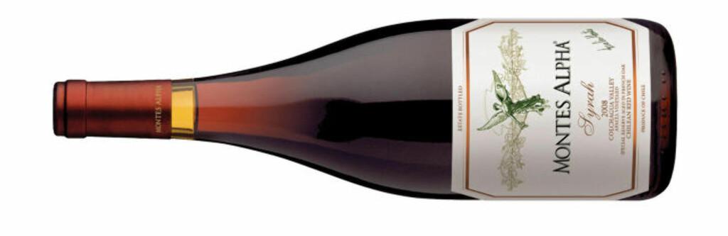 FIRER FRA CHILE: Montes Alpha Syrah 2009 kommer fra en av Chiles mest imponerende vingårder.