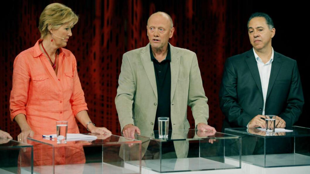 <strong>MØTTES TIL DEBATT:</strong> Sofie Hexeberg, Christian Drevon og Fedon Lindberg møttes i forrige uke til debatt på Litteraturhuset om lavkarbo. Tallene fra skattelistene viser at Drevon er den av dem som tjente best i 2010. Foto: Jacques Hvistendahl