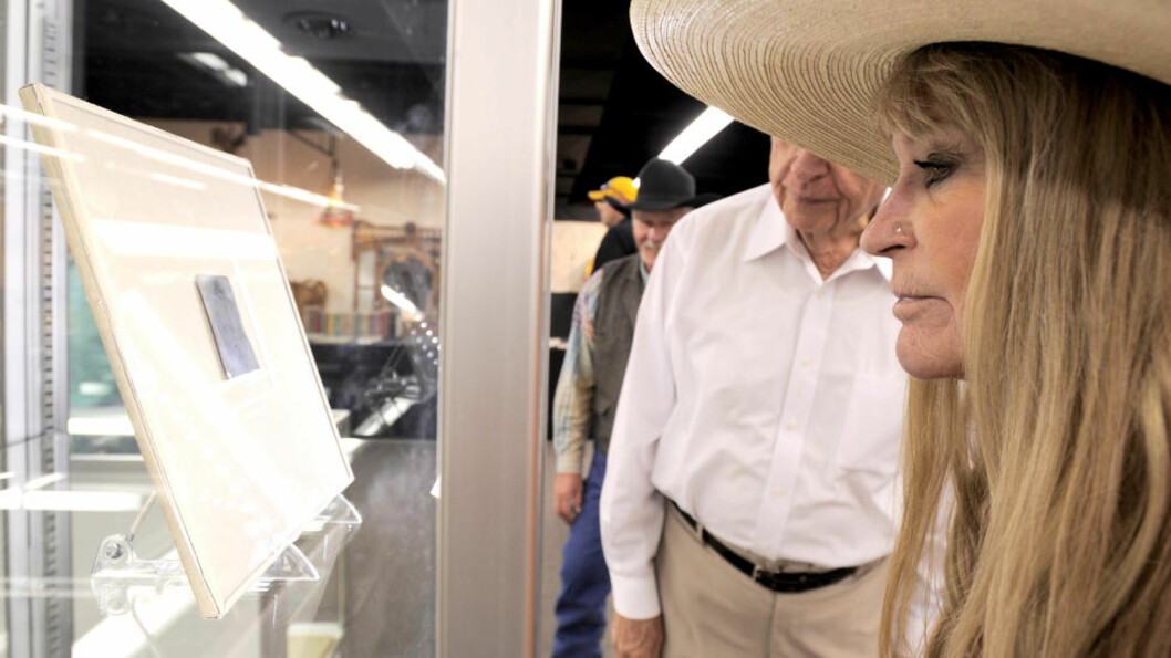 <strong>IKKE BILLIG:</strong> Det eneste bildet som eksisterer av Billy the Kid ble alt annet enn billig. 12,6 millioner kroner ble siste bud for bildet. Foto: REUTERS/Scanpix.