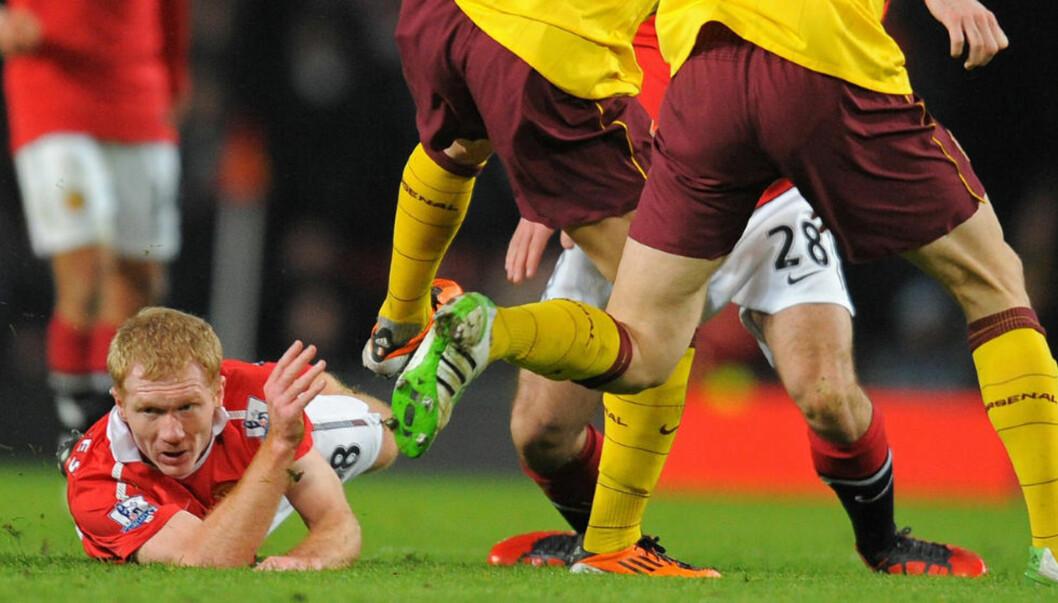 <strong>HÅNER RIVALENE:</strong> Paul Scholes sier han alltid foretrakk å vinne kamper framofor å spille lekker Arsenal-fotball. Foto: AFP/ANDREW YATES