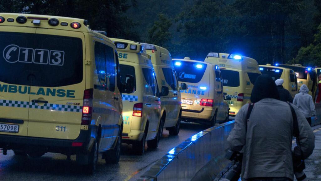 DRAMATISK: Flere er alvorlig skadd etter skuddramaet på Utøya. Foto: Øistein Norum Monsen/Dagbladet