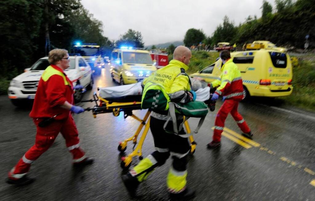 MASSAKRE: 84 unge er hittil bekreftet drept etter terroraksjonen på Utøya i går. Foto: MORTEN EDVARDSEN / SCANPIX