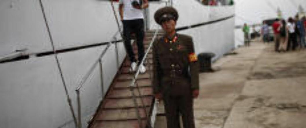STRAM GIV AKT: Turene vil bli strengt overvåket. I tillegg til myndighetsorganer i Nord-Korea, samarbeider Nord-Koreas statlige turistbyrå og kinesiske reiseselskaper for å få kinesiske turister til landet.  Foto: CARLOS BARRIA/REUTERS/SCANPIX