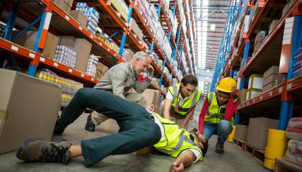 <strong>FLEST FALL:</strong> Arbeidsulykker forårsaket på grunn av fall, utgjør den største andelen av arbeidsulykkene.&nbsp;