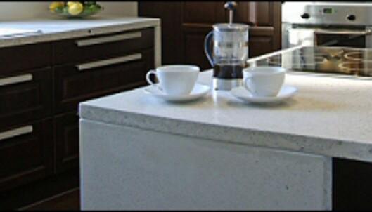 Betongplaten består av sement, sand, stein og litt titan. <i>Foto: IKEA</i>