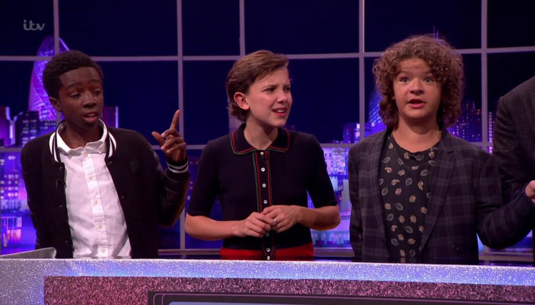 TANNLØS: 14 år gamle Gaten Matarazzo (til høyre) snakket i et intervju på «The Jonathan Ross Show» om hvorfor han ikke har tenner. Foto: wenn.com/NTB Scanpix.
