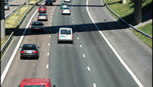 1 av 14 biler bruker høyrefeltet.