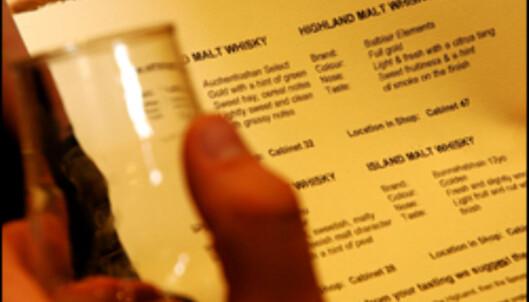 Følg smakskartet og drikk vann mellom drammene.
