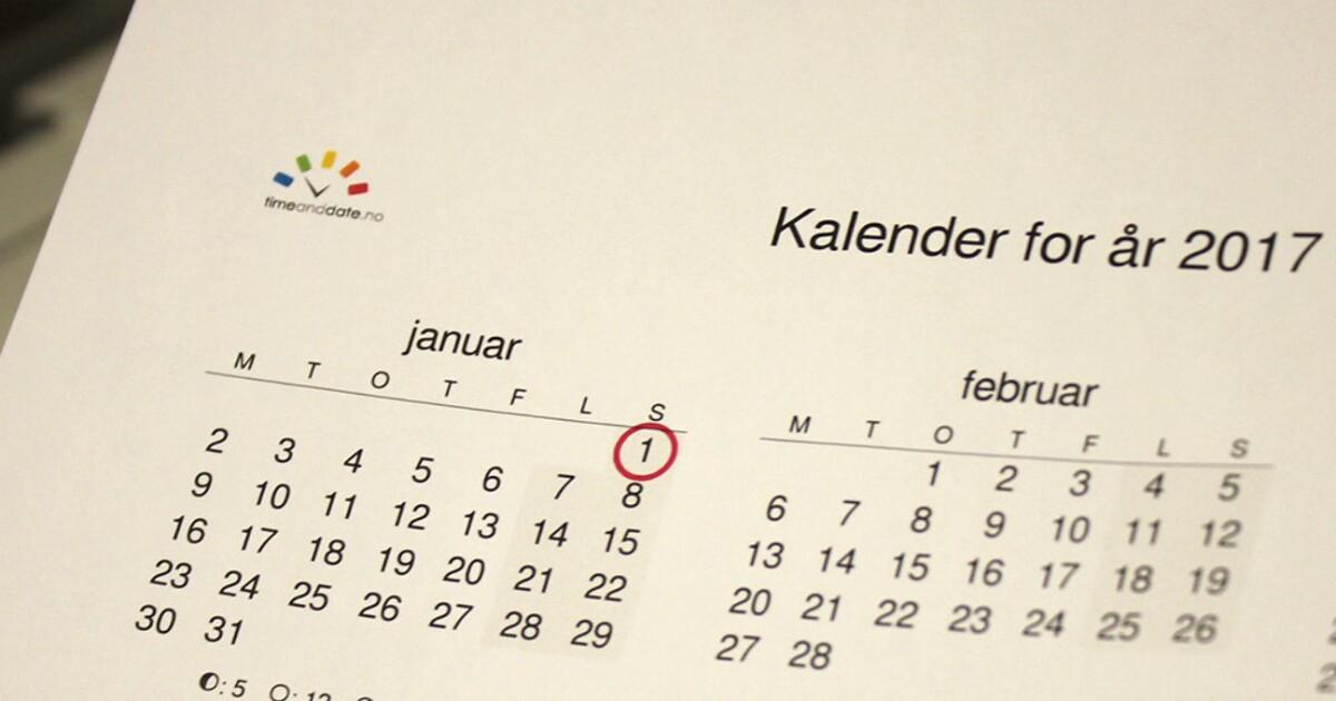 Kalender 2020 med helligdager