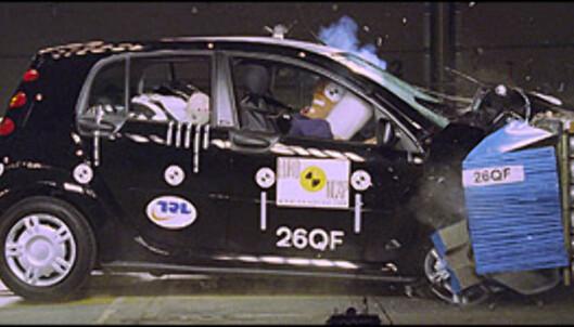 <strong>JUMBO:</strong> Smart Forfour ble kun tildelt 18 poeng, noe som bare kvalifiserer til to stjerner. Bilen kan dermed ikke sies å egne seg for barnefamilier.