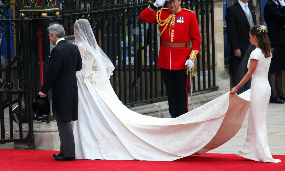 FORANDRET LIVET: Dette øyeblikket i 2011 skulle vise seg å forandre livet til Philippa Charlotte «Pippa» Middleton. Lørdag gifter hun seg i en storslått seremoni. Foto: NTB Scanpix