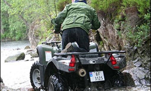 Kymco MXU 500 på vei til dypt vann, 19/36 hk, høy/lav/revers, 84.900 kroner.