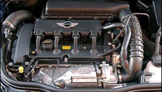 Dette er turbomotoren med 175 hestekrefter. Den er utviklet sammen med Peugeot og befinner seg også i Peugeot 207.