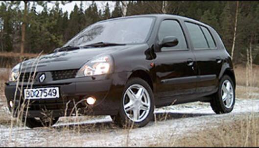 <strong>FARLIG:</strong> Forrige generasjon Renault Clio (1998-2005) ender opp med karakteren 1. Folksam fraråder sine kunder å kjøre de 59 bilene som får denne karakteren. Folksam er også skeptisk til de 76 modellene som får karakteren 2.