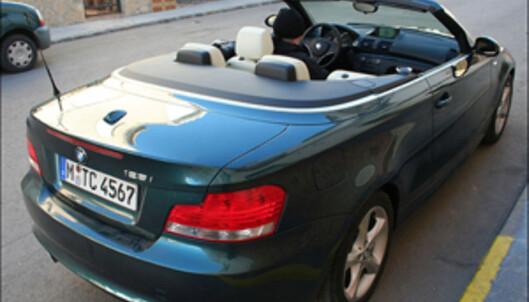Åpen BMW 1 prøvekjørt