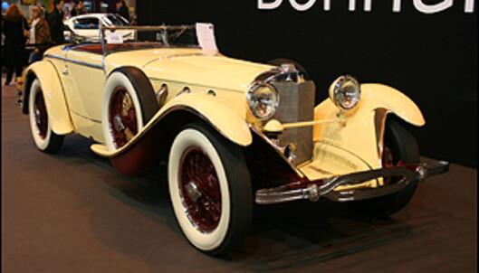 <strong>1928-modell Mercedes-Benz 26/120/180 supercharged S-type Torpedo Roadster - karosseri:</strong> J. Saoutchik. Pris: 18,5 mill. kr.