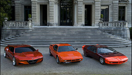 <strong>Fra høyre:</strong> Paul Bracqs BMW Turbo (1972), M1 (1978), M1 Hommage (2008).