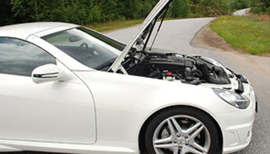 Legg merke til at nesten hele motoren sitter bak forakselen Foto: Cato Steinsvåg