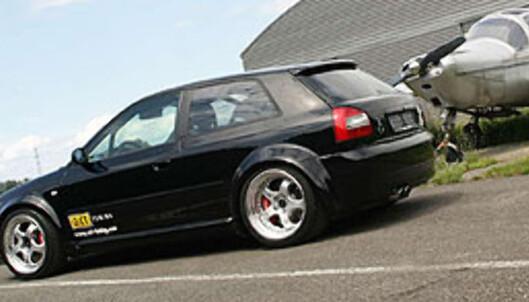 Bakhjulsdrevet Audi-råskinn