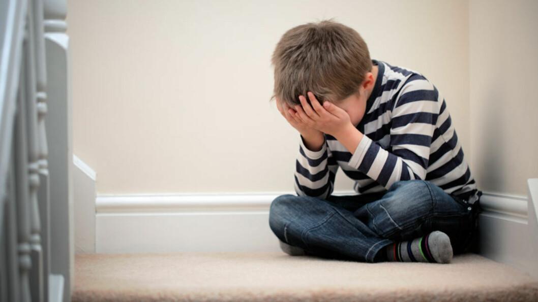 TRENGER HJELP: Barn som opplever vold kan være utrygge, ha lavt selvbilde, dårlig helse, mange plager og sykdommer.  Foto: NTB scanpix