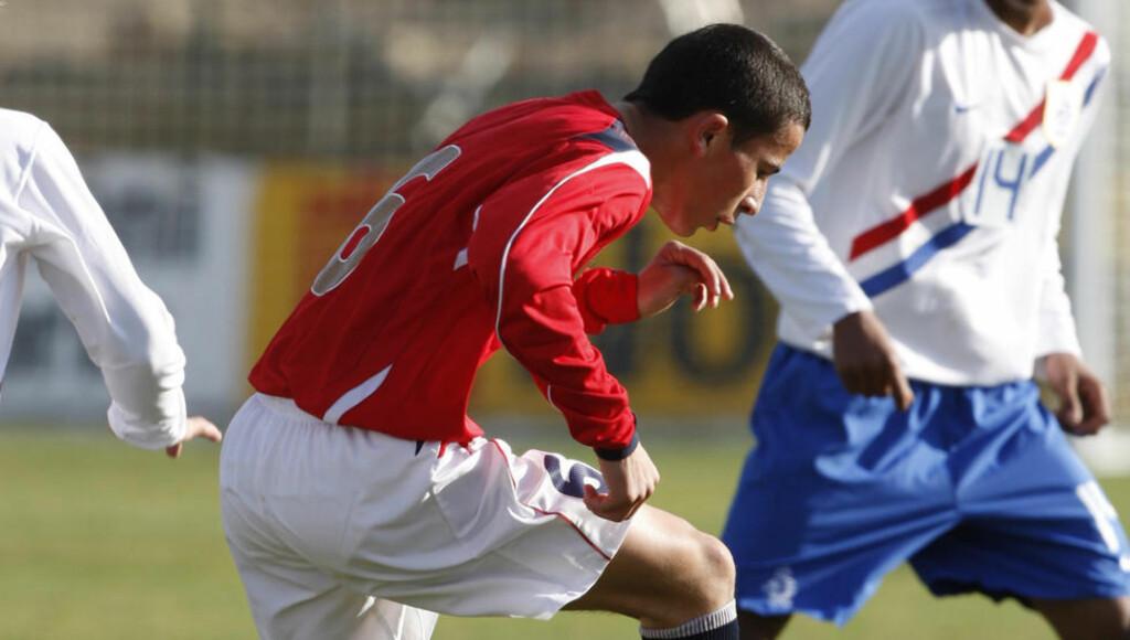HJEMTUR: Manchester Citys norske unggutt Omar Eabdellaoui vil spille for Strømsgodset denne våren. Her fra 2008. Foto: Terje Bendiksby / SCANPIX