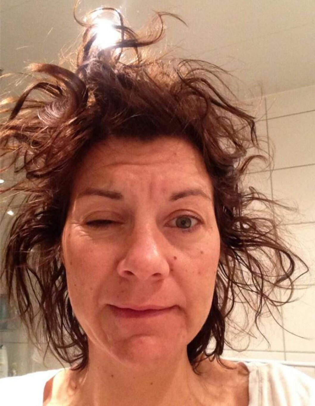 BUSTETE SVEIS: Dette er grunnen til at jeg må dusje hver morgen, sier Camilla Marie. Foto: Privat