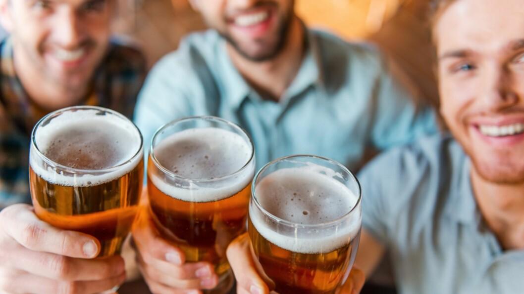 <b>BABYSHOWER FOR FEDRE:</b> Bleier og øl er de to viktigste ingrediensene på disse festene! Foto: NTB Scanpix