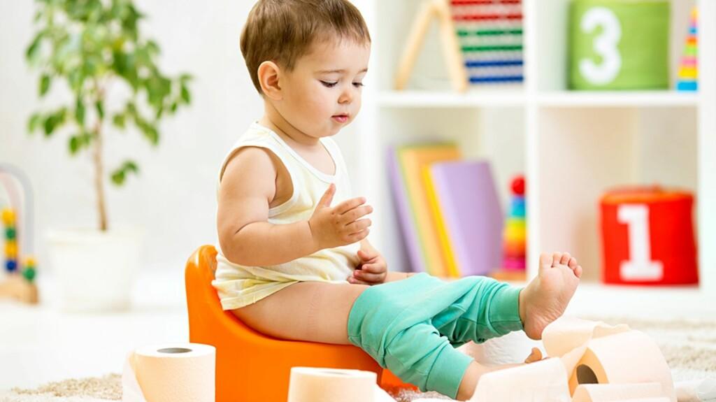 <b>POTTETRENING:</b> Det å skulle slutte med bleier kan virke uoverkommelig, men ifølge denne seksbarnsmoren kan det gjøres veldig enkelt. Foto: NTB Scanpix