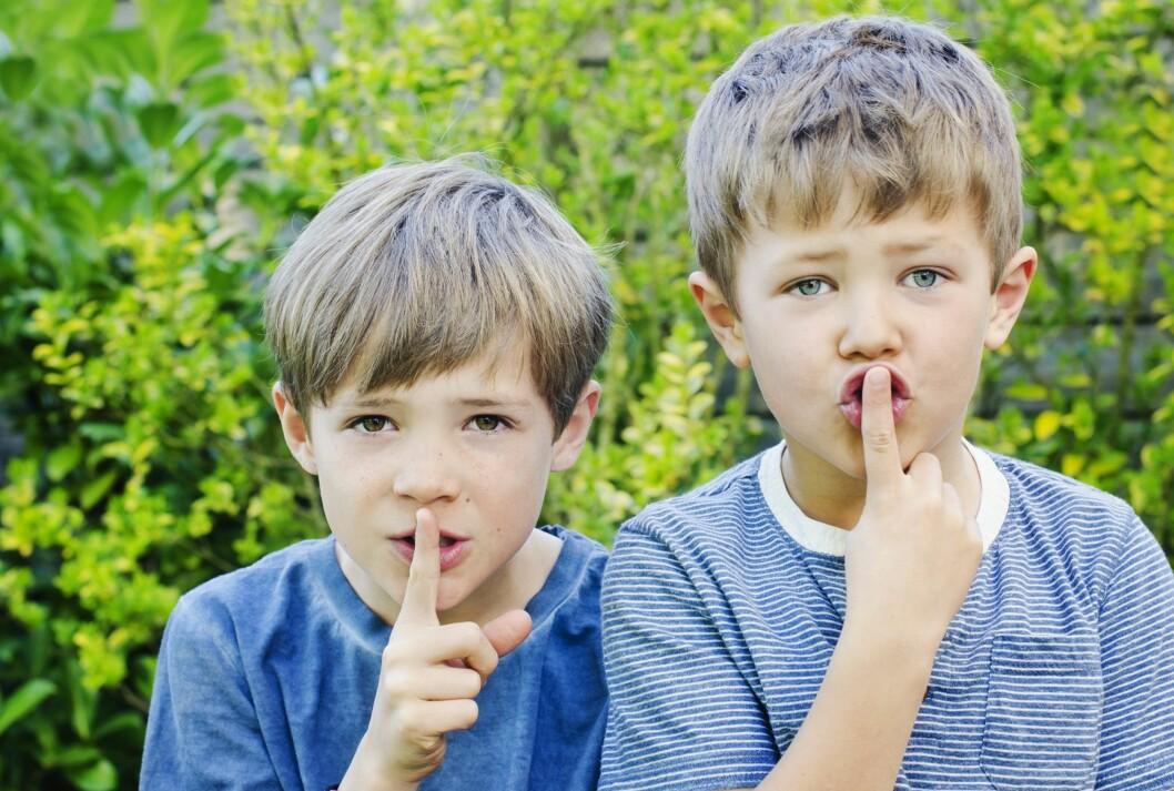 <b> HYYYSJ:</b> Barn tar etter voksnes atferd. Lyver du, lyver de, sier ekspertene. Foto: NTB/ Scanpix