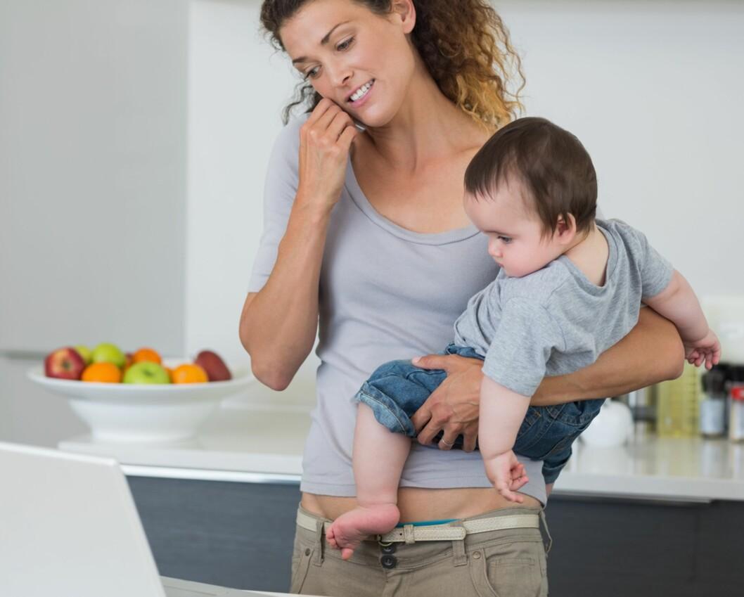 <strong>GRÜNDERMAMMA:</strong> Mange drømmer om å starte butikk eller skrive bok i løpet av permisjonen sin, men glemmer at det å ha en baby kan være en fulltidsjobb, mener Marte. Foto: NTB Scanpix