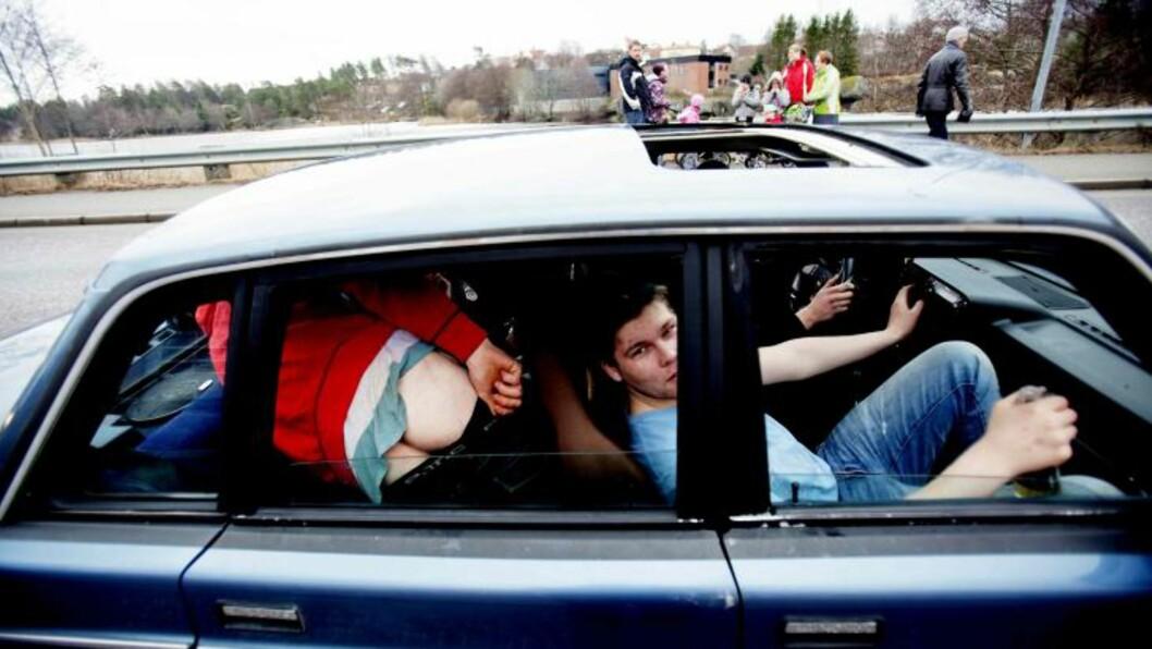 TIL SVERIGE: Disse gutta tok turen til Strømstad for å vise seg fram i fjor. Foto: Stian Lysberg Solum / SCANPIX