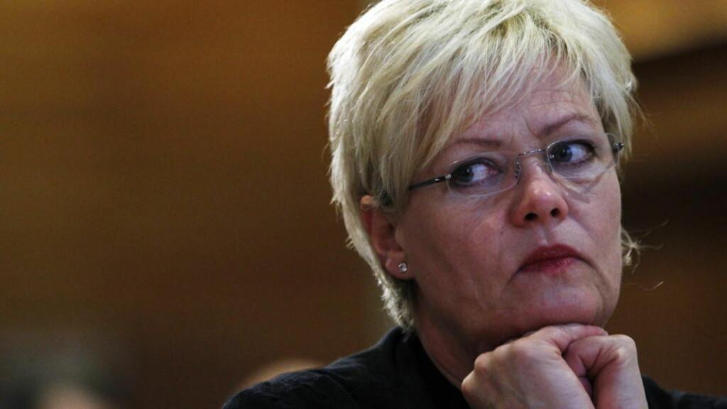 LITEN: SV leder Kristin Halvorsen sliter med meningsmålingene. Partiet er nå mindre enn Venstre. Foto: Lise Åserud / Scanpix