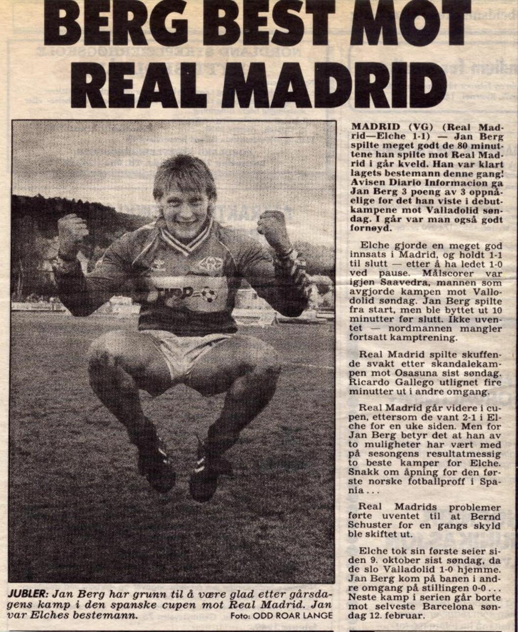 FRA MINNEBOKA: Han fikk leve det livet alle fotballinteresserte gutter hadde på 80-tallet. Feit bil, haugevis med kontanter og Diego Maradona som festkompis.- Jeg var nok en Playboy. Det var slik i Spania at vi festet da vi hadde fri. Midtuke eller helg. Nå er det sikkert åtte år siden jeg var på byen med gutta, sier han.  Foto: Odd Roar Lange/Faksimile