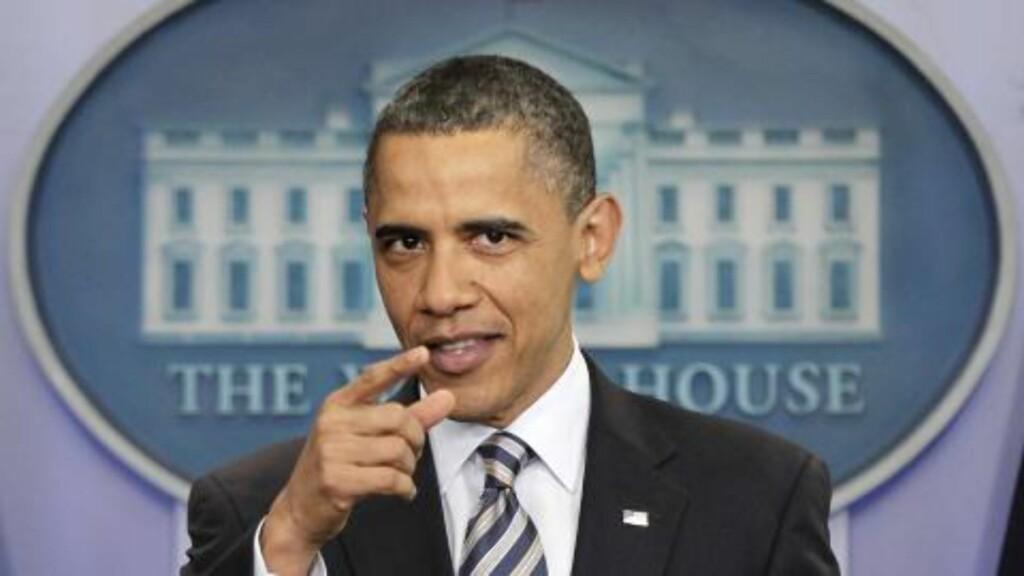 HISTORISK:  USAs president Barack Obama kalte det historisk at USA endelig, etter ti år, har lyktes med å ta Osama bin Laden. Foto: AP Photo/J. Scott Applewhite