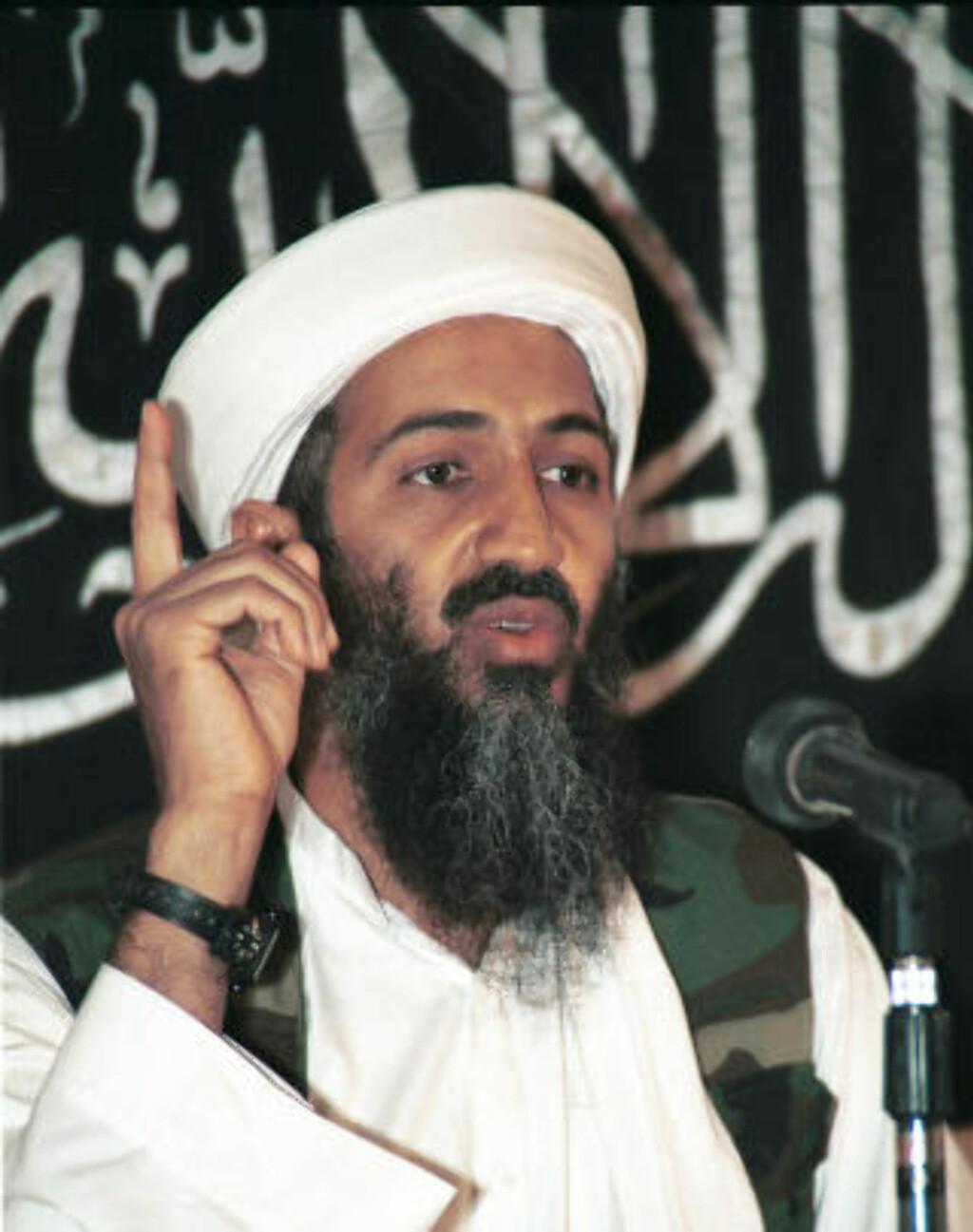 DREPT: Osama bin Laden ble natt til i dag norsk tid drept av amerikanske elitestyrker.Arkivfoto: AP Photo/Scanpix