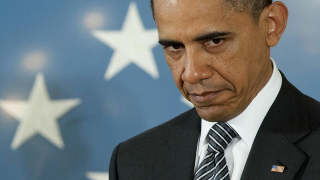 FULGTE DRAMAET DIREKTE: USAs president Barack Obama fulgte dramaet i Pakistan der terrorlederen Osama bin Laden ble drept direkte fra et av spesialsoldatenes hjelmkamera. Foto: AFP Photo/Saul Loeb/Scanpix
