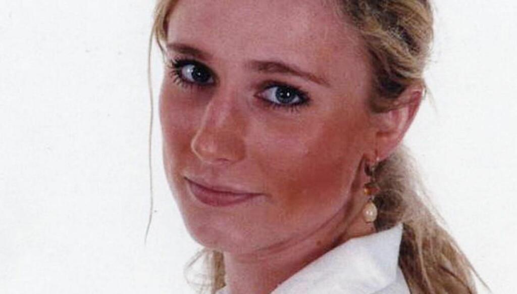 DREPT: Martine Vik Magnussen (23) ble søndag 16. mars 2008 funnet drept i kjelleren i Great Portland Street i London, etter å ha sist blitt sett i live sammen med medstudenten og milliardærsønnen Farouk Abdulhak (21). Foto: PRIVAT