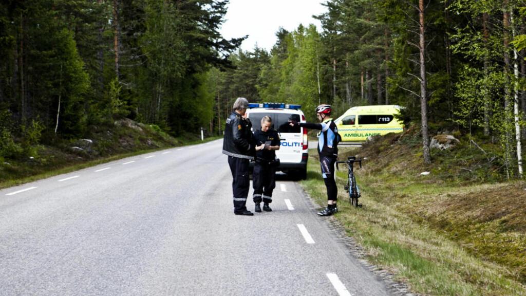 PÅKJØRT PÅ SYKKEL: Kenneth Gundersen Bjørneseth (40) ble truffet av en bil på fylkesvei 205 mellom Hokåsen og Lundersæter i går ettermiddag. Foto: Alexander Klanderud
