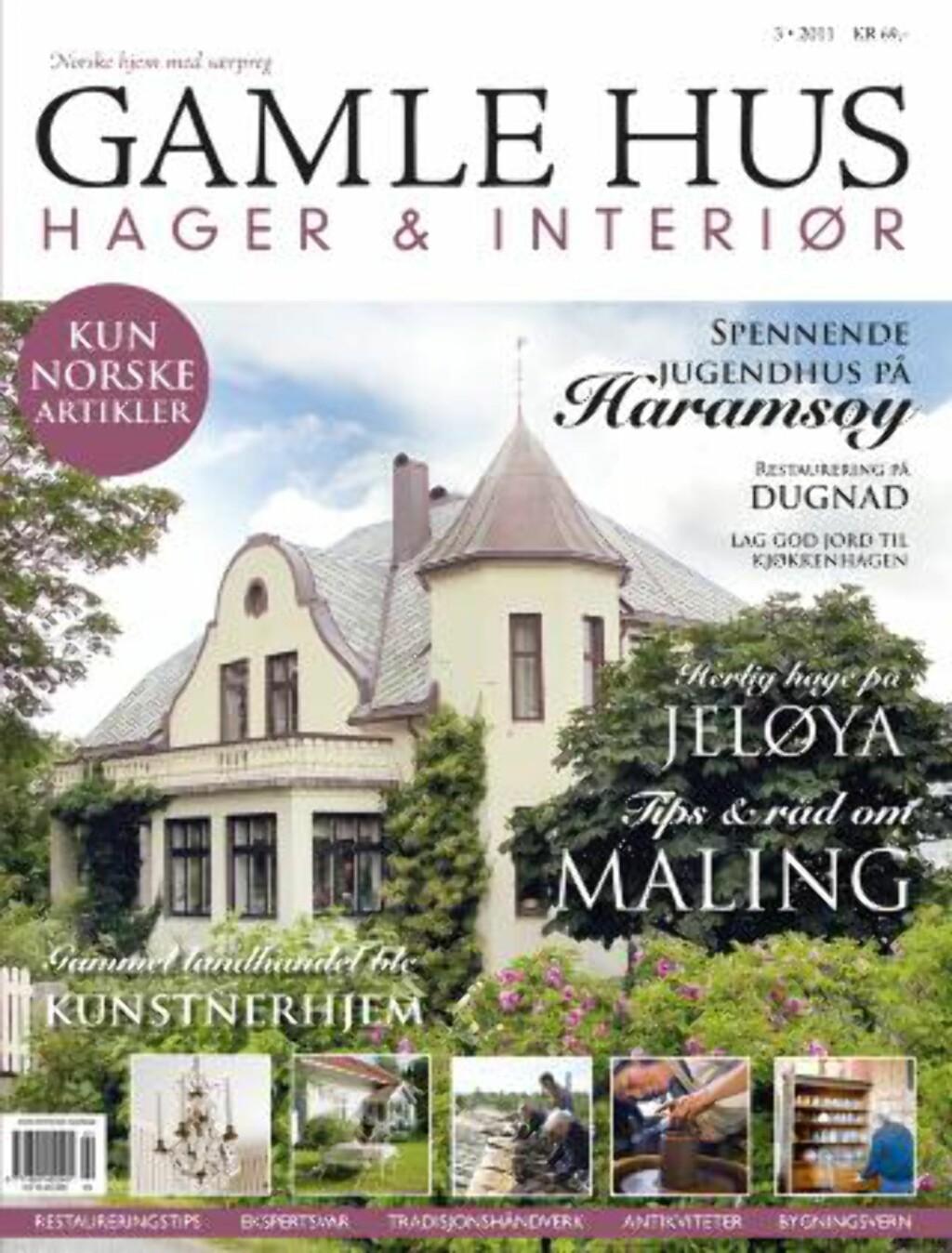FAKSIMILE: Nyeste nummer av Gamle Hus, Hager & Interiør er i butikkene fra 26. mai.