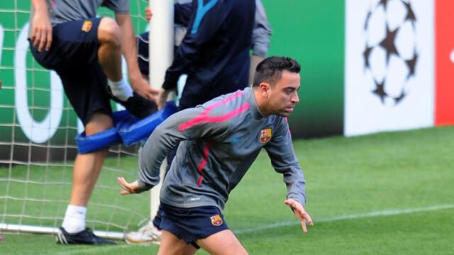 a932a37e FLINK TIL Å LØPE: I siste fotball-VM løp FC Barcelonas Xavi Hernandez med