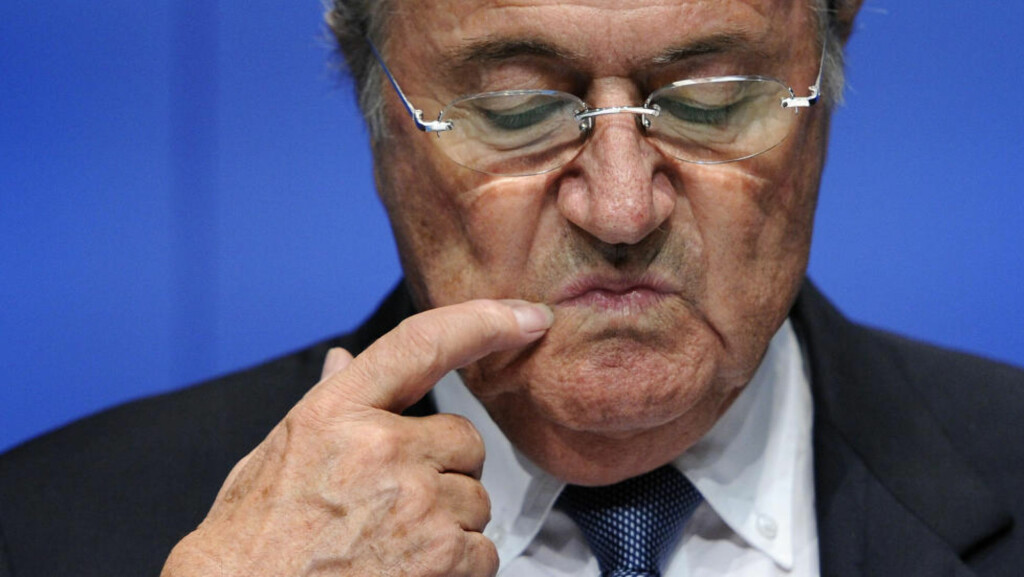 FIFA President Sepp Blatter gestures during a press conference on May 30, 2011 at the FIFA headquarters in Zurich. The football's world governing body FIFA suspended on May 29, 2011 one-time presidential candidate Mohamed bin Hammam and influential executive committee member Jack Warner while clearing FIFA president Sepp Blatter of corruption after hearings over bribery allegations. AFP PHOTO / FABRICE COFFRINI