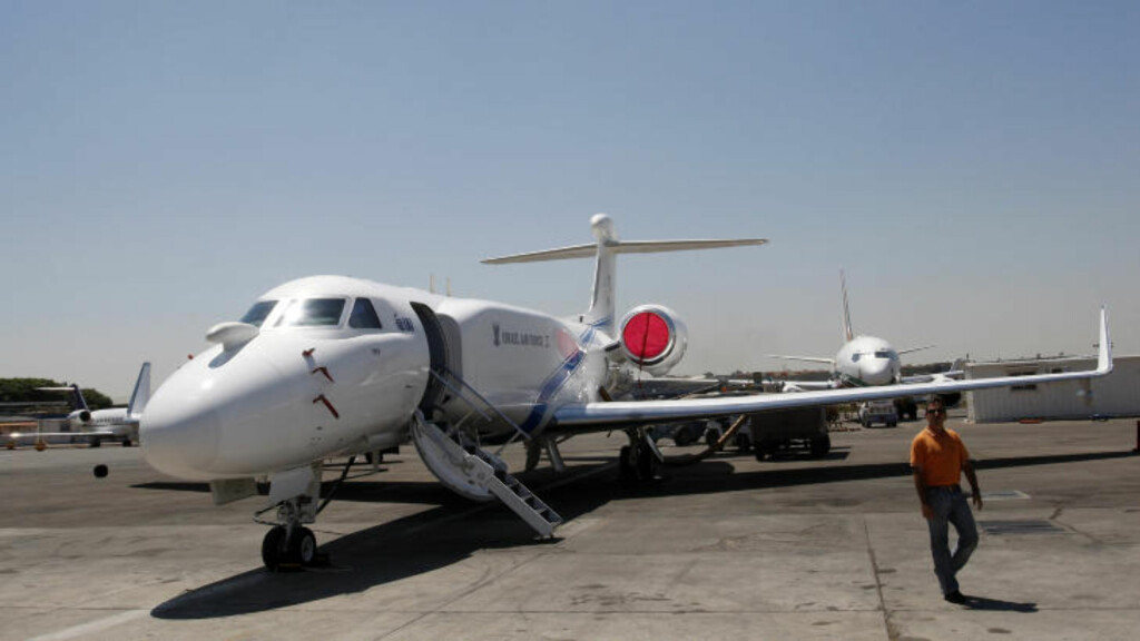 FLOTT FLY:  Det var et Gulfstream G550-fly av denne typen den ugandiske presidenten gikk til innkjøp av. Det regnes som et privatfly av toppklasse. Foto: Reuters / Ronen Zvulun