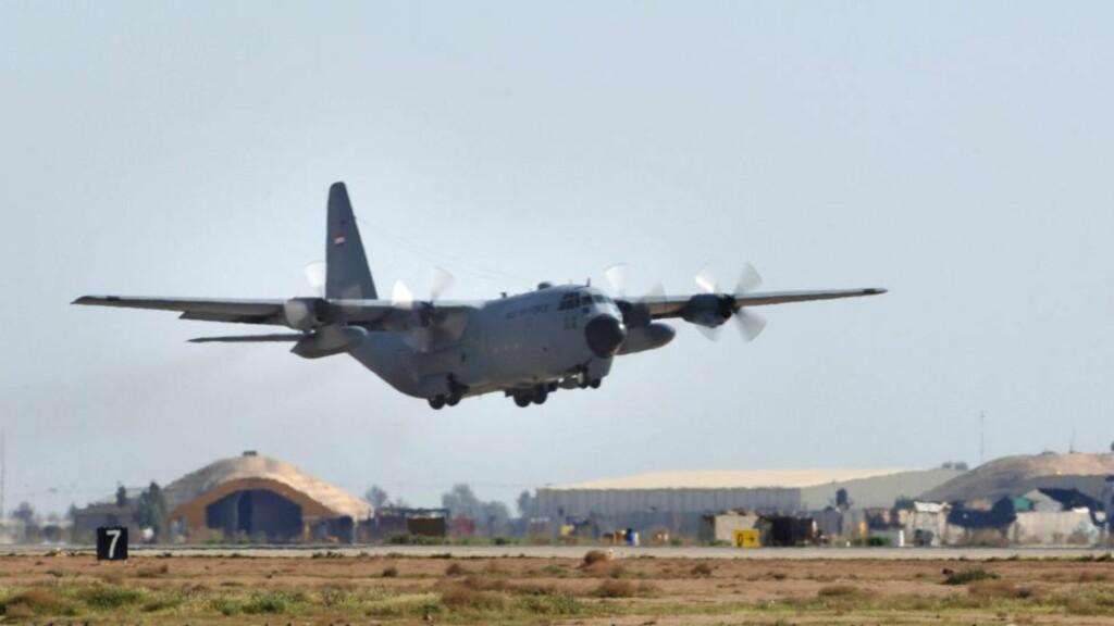 MILLIARDFLY  Amerikanske myndigheter lastet hele 72 milliarder kroner i kontanter på Herculesfly og fraktet dem til Bagdad etter Irak-invasjonen i 2003.Foto: AFP PHOTO/HO/Staff Sgt. Michael R. Holzworth/Scanpix