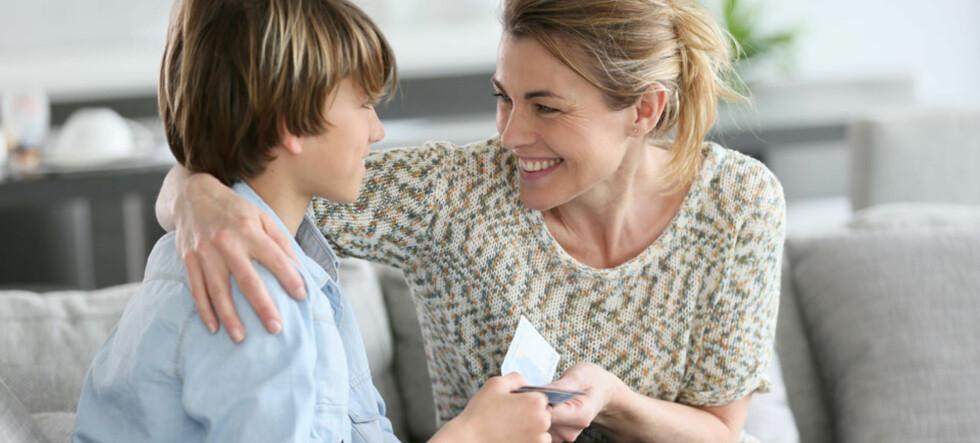 Bør barn få lommepenger?