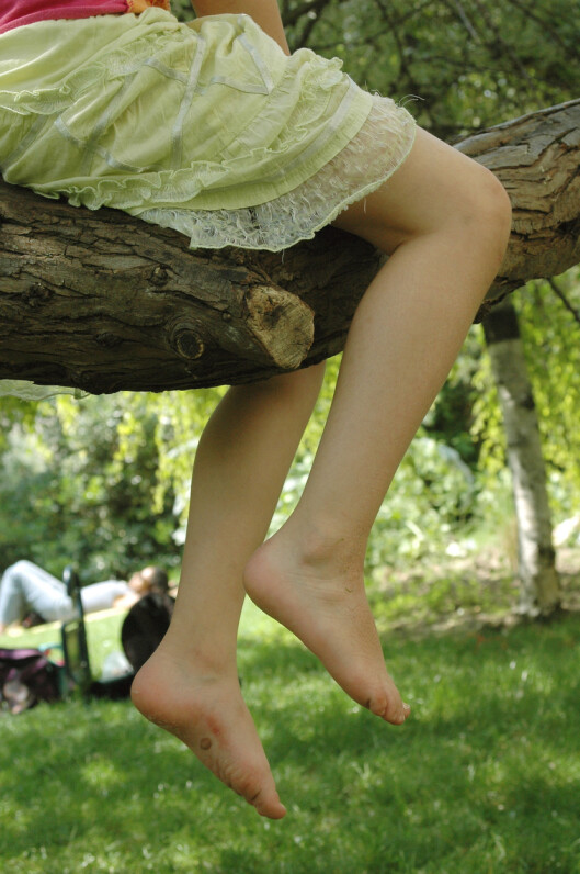 HØYT OG LAVT: Voksesmerter kommer gjerne etter en dag med høy aktivitet. Foto: NTB Scanpix, Plainpicture