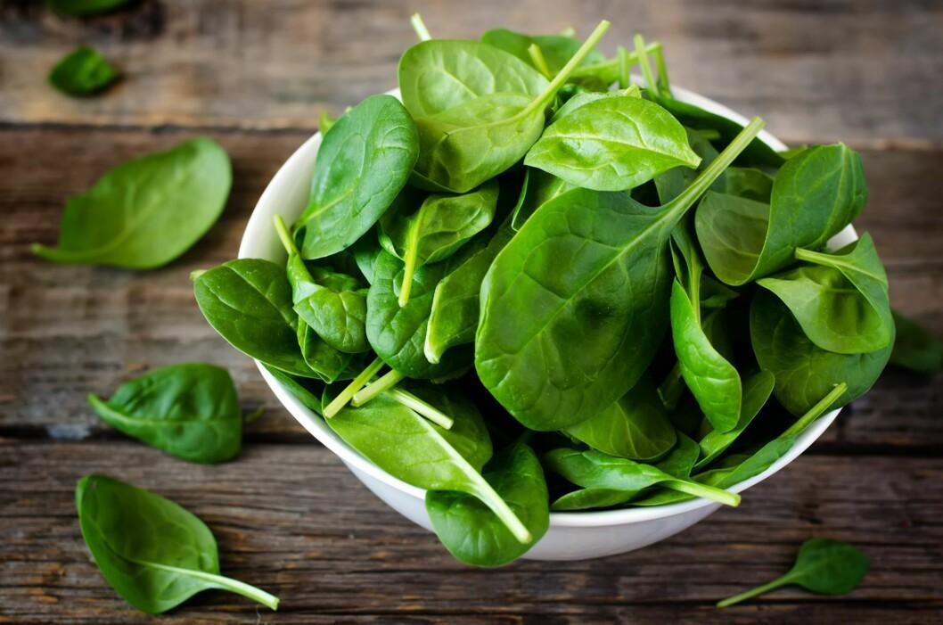 UNNGÅ SPINAT: Spinat - en grønnsak som inneholder mye nitrat. Barn under ett år bør unngå å spise dette, sier allmennlege.  Foto: NTB/ Scanpix