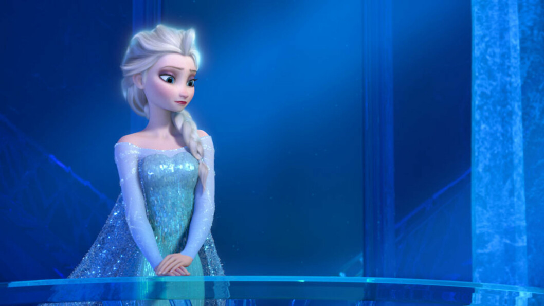 LA DET GÅ: Disneyprinsessen Elsa er omgitt av iskulde. Foto: NTB scanpix